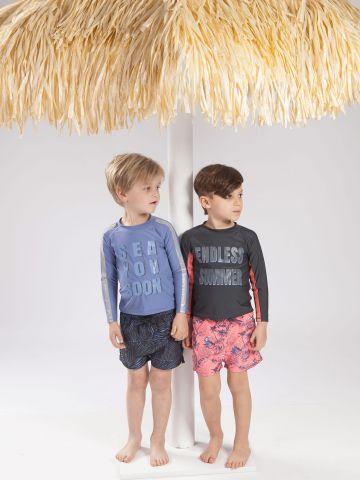 מכנסי בגד ים בהדפס ג'ונגל של MINENE