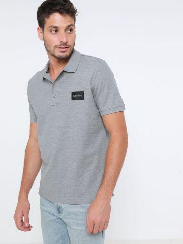 חולצת פולו עם פאץ' לוגו של CALVIN KLEIN