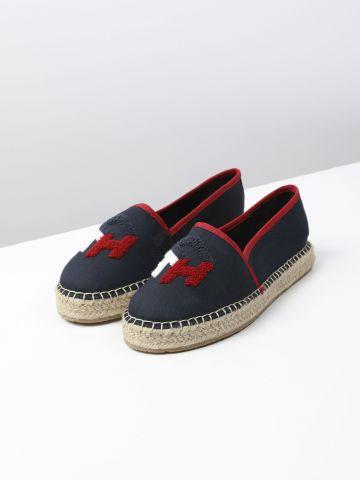 נעלי מוקסין עם רקמת לוגו / נשים של TOMMY HILFIGER