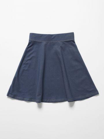 חצאית מיני דמוי ג'ינס / בנות של THE CHILDREN'S PLACE