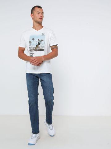 ג'ינס קלאסי בגזרת Slim של FOX