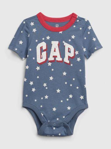בגד גוף בהדפס כוכבים ולוגו / 0-24M של GAP