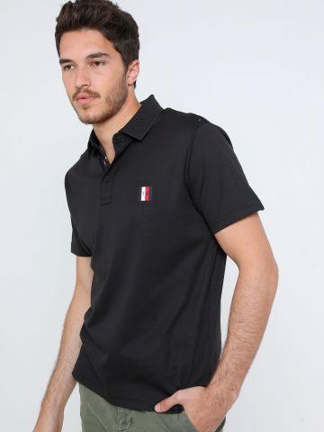 חולצת פולו עם גומי לוגו בחזית Slim Fit של TOMMY HILFIGER