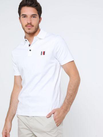 חולצת פולו עם גומי לוגו בחזית של TOMMY HILFIGER