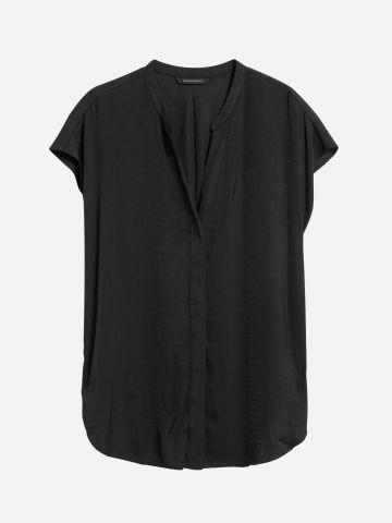 חולצה מכופתרת מבד נשפך / נשים של BANANA REPUBLIC