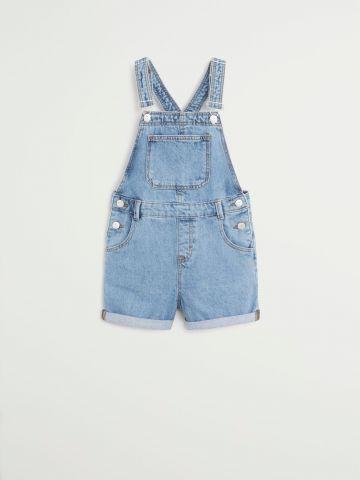 אוברול ג'ינס קצר עם כיסים / בנות של MANGO