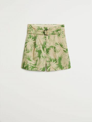 מכנסיים קצרים בהדפס טרופי של MANGO
