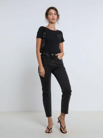 ג'ינס קרופ עם סיומת גזורה 501 של LEVIS