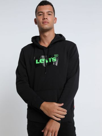 סווטשירט קפוצ'ון עם לוגו של LEVIS