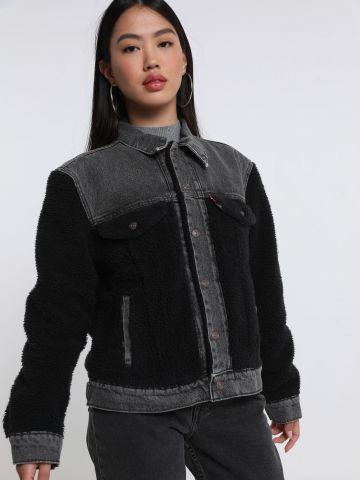 ג'קט ג'ינס בשילוב צמר של LEVIS