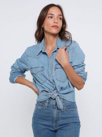 חולצת ג'ינס מכופתרת בשטיפה בהירה של LEVIS