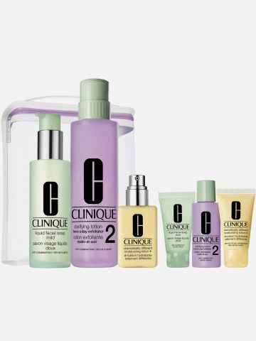 שלושת השלבים GREAT SKIN ANYWHERE DDML / HOME & AWAY של CLINIQUE