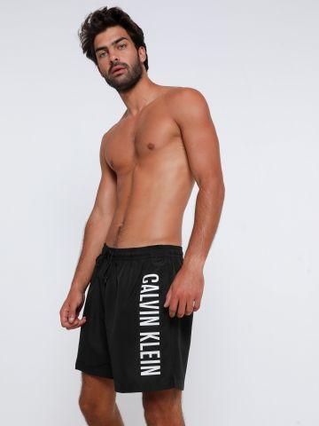 מכנסי בגד ים עם הדפס לוגו של CALVIN KLEIN