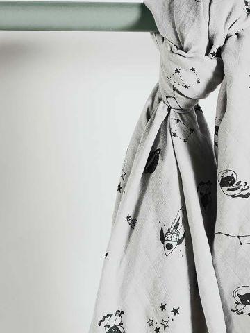 שמיכה מלבנית בהדפס איורים / בייבי של MINENE
