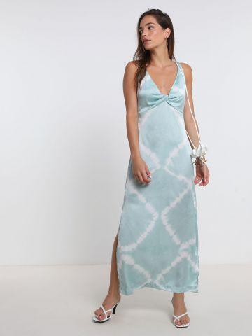שמלת מקסי סאטן טאי דאי של PEPE JEANS