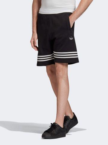 מכנסי טרנינג קצרים עם לוגו של ADIDAS Originals