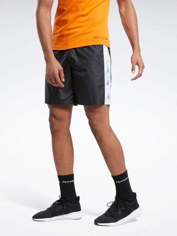 מכנסי אימון עם סטריפים לוגו PRIDE Collection של REEBOK
