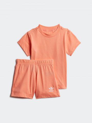 סט טי שירט ומכנסיים עם הדפס לוגו / 3M-4Y של ADIDAS Originals