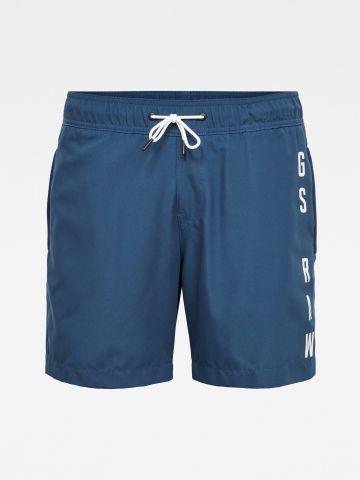 מכנסי בגד ים עם הדפס לוגו של G-STAR