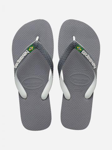 כפכפי אצבע עם לוגו בשילוב דגל ברזיל Brazil Mix / גברים של HAVAIANAS