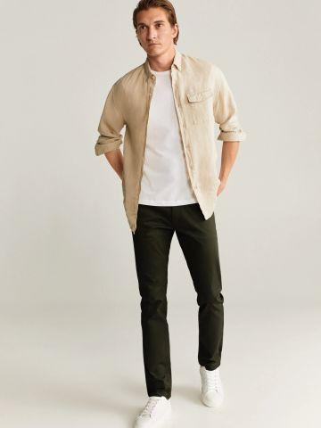 מכנסיים ארוכים Slim-Fit של MANGO