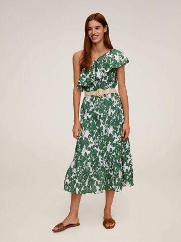 שמלת מידי וואן שולדר בהדפס פרחים של MANGO