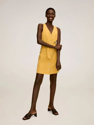 שמלת מיני מחויטת של MANGO