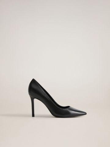 נעלי עקב סטילטו מעור של MANGO