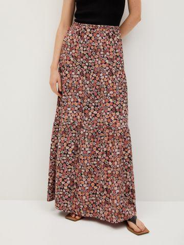 חצאית מקסי בהדפס פרחים של MANGO