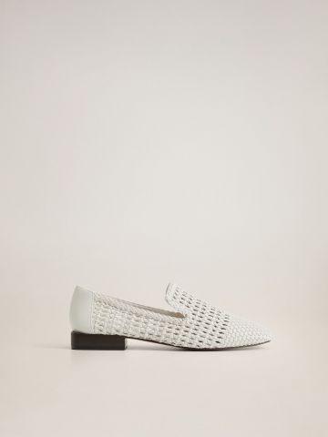 נעלי מוקסין בסגנון קלוע של MANGO