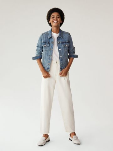 ג'קט ג'ינס עם כיסים של MANGO