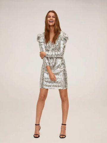 שמלת מיני פייטים עם טוויסט של MANGO