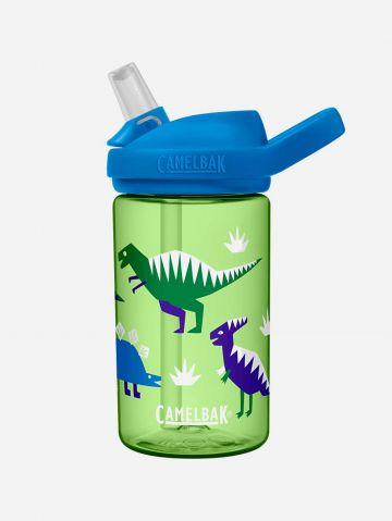 """בקבוק שתייה עם קשית ופיה בדוגמת דינוזאורים EDDY / 0.4 מ""""ל של CAMELBAK"""