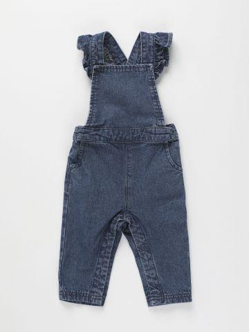 אוברול ג'ינס עם כתפיות מלמלה / 6M-3Y של FOX