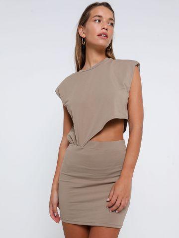 שמלת מיני צמודה פתח בבטן של TERMINAL X