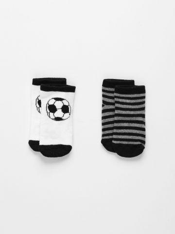 מארז 2 זוגות גרביים בהדפסים שונים / 0M-3Y של FOX