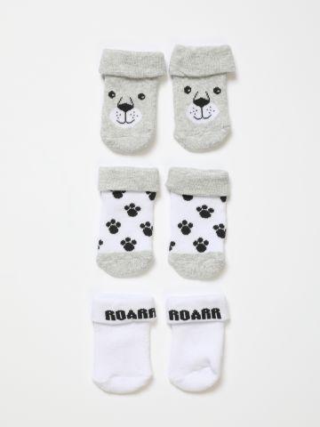 מארז 3 זוגות גרביים בדוגמת כלב / 0M-3Y של FOX