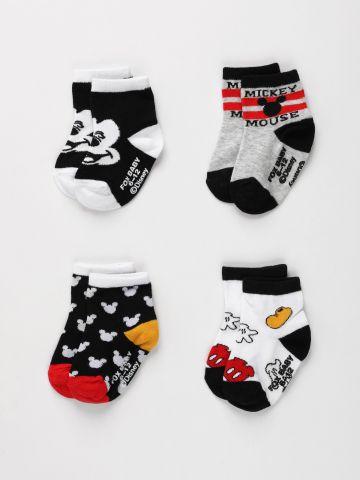 מארז 4 זוגות גרביים מיקי מאוס / בייבי של FOX