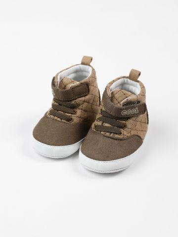נעליים גבוהות בדוגמת משבצות / 0-3Y של FOX