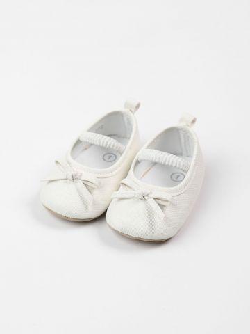 נעלי בובה בעיטור פפיון / בייבי בנות של FOX
