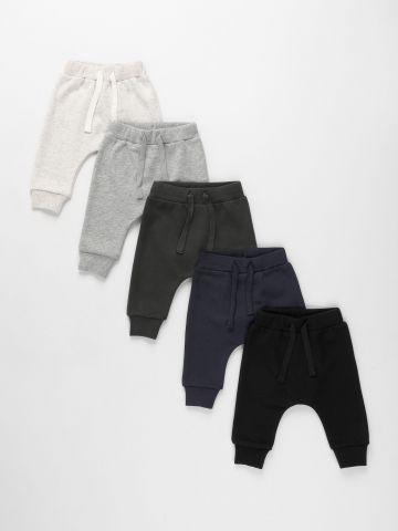מארז 5 מכנסיים ארוכים פרנץ' טרי / 0-6Y של TERMINAL X KIDS