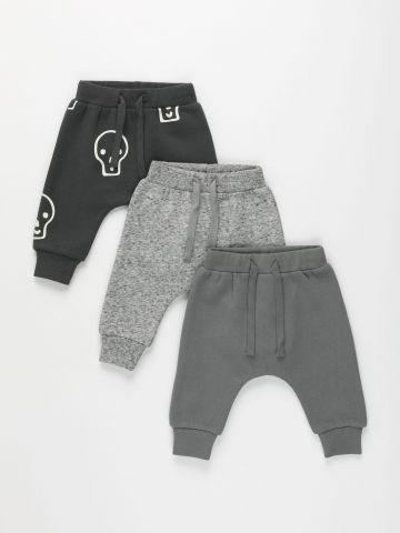 מארז 3 מכנסי פוטר ארוכים / 0-6Y של TERMINAL X KIDS