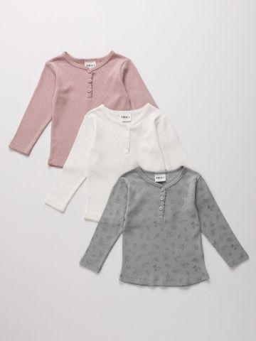 מארז 3 חולצות פוינטל עם כפתורים / ילדים של TERMINAL X KIDS