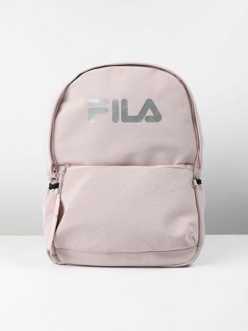 תיק גב עם הדפס לוגו כסוף / נשים של FILA