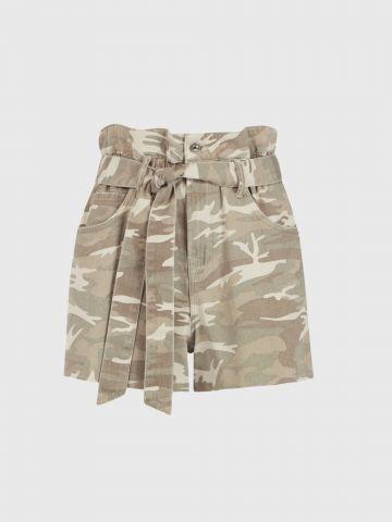ג'ינס פייפרבאג קצר בהדפס קמופלאז' / נשים של ALL SAINTS