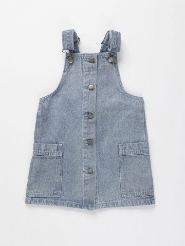 שמלת ג'ינס מכופתרת עם כיסים / בנות של FOX