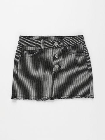חצאית ג'ינס בהדפס פסים / בנות של AMERICAN EAGLE