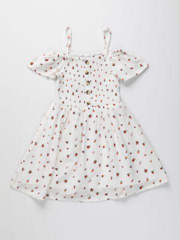 שמלת קולד שולדרס בהדפס פרחים / בנות של AMERICAN EAGLE