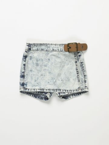 מכנסי חצאית ג'ינס ווש / בנות של AMERICAN EAGLE