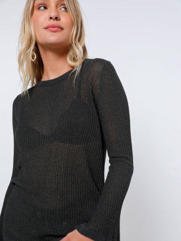 חולצת סריג שקפקפה עם שרוולי פעמון של TERMINAL X